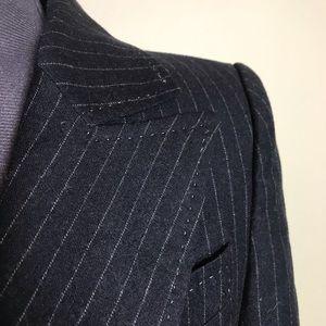 Zara women: charcoal grey pinstripe blazer, Sz 4.